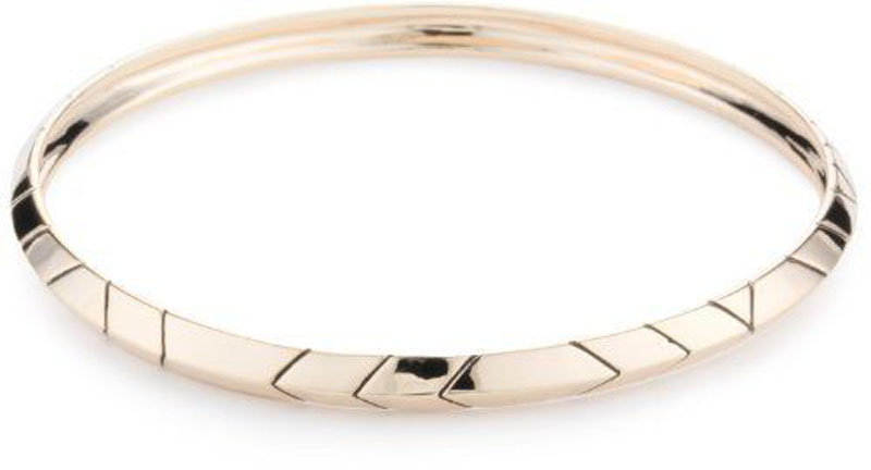 House of Harlow 1960 Thin Stack Bangle Rose Gold