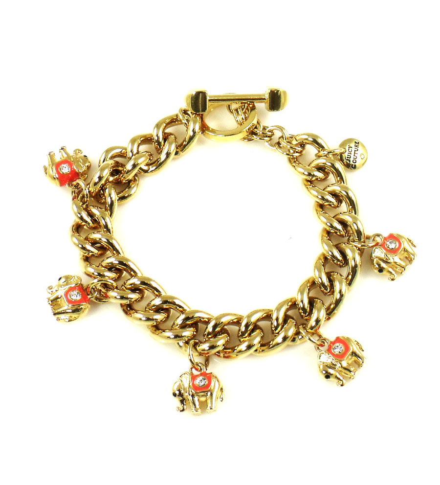 Juicy Couture Jewelry Elephant Charm Toggle Bracelet New 2013