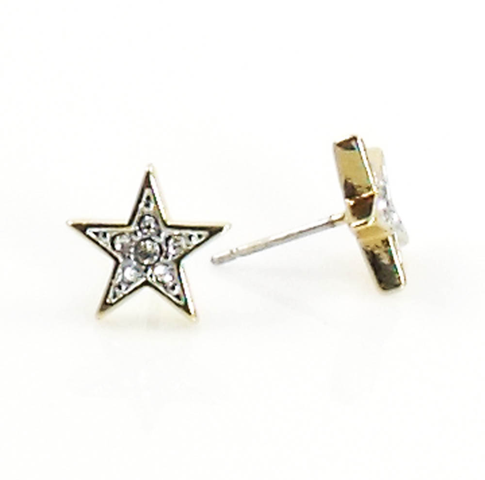 Juicy Couture Jewelry PAVE STAR STUD EARRINGS Gold
